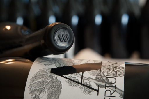 Hand labeling and sealing with shellac of Friulano magnums