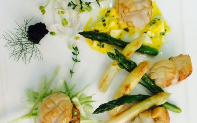 Cappesante agli asparagi